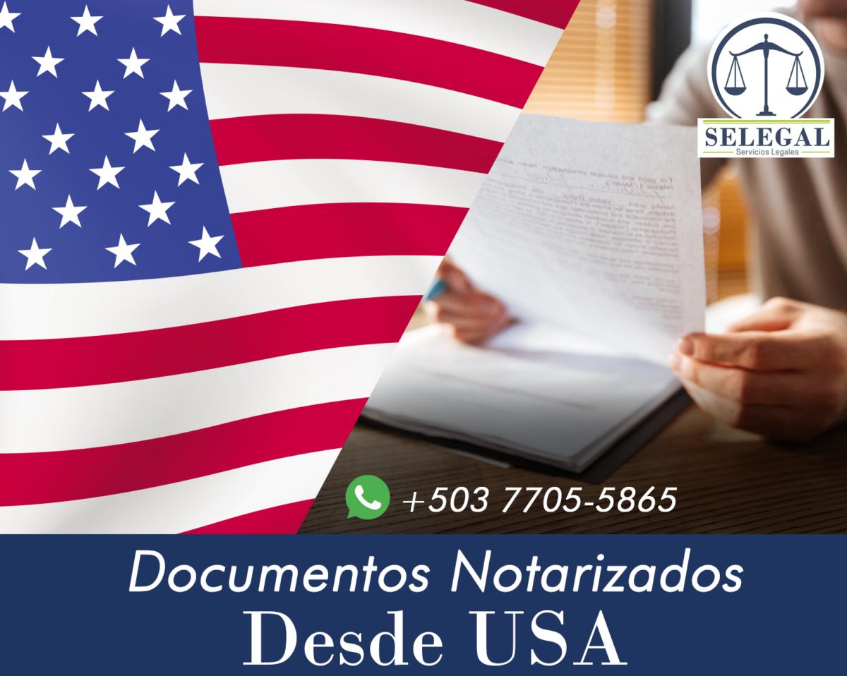 Documentos Notarizados desde USA
